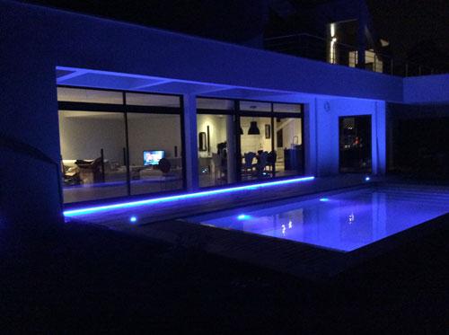 éclairage déco piscine